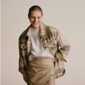 低至3折 £39收经典款大衣Mango 大衣、泰迪熊外套冬促再降价 法式优雅满满 秋冬必备单品