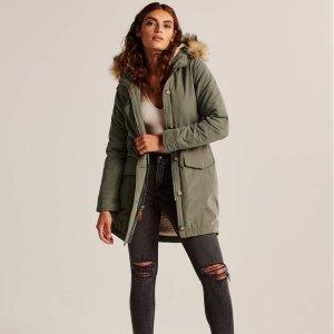 低至6折+额外7.5折Abercrombie & Fitch 派克大衣外套特卖 面包服$54起