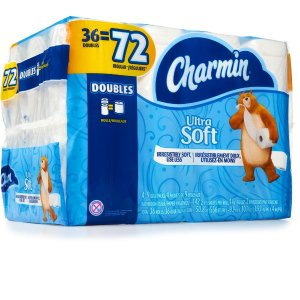 $1Charmin Ultra Soft Double Roll.36 Count