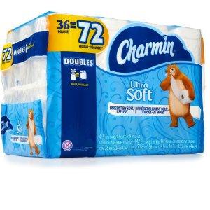 北美君撒福利 $1秒杀36卷秒杀预告:36卷Charmin超软双层卫生纸秒杀活动