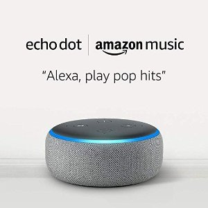 Amazon灰色 Echo Dot 3代智能音箱 + 1个月Amazon Music Unlimited