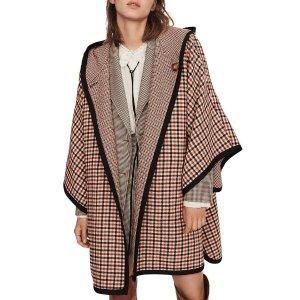 Maje格紋大衣