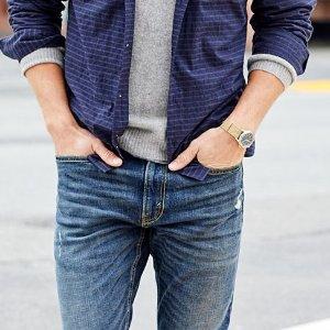 $19起牛仔短裤+免邮 Levis旗下品牌Signature by Levi  Strauss & Co 男士牛仔裤热卖