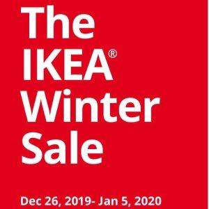 低至5折IKEA 多款家具、收纳用品等冬日促销