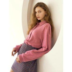 Lartigent粉色针织衫上衣