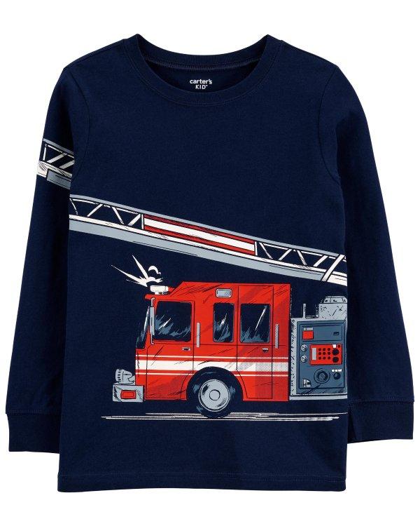 儿童消防车T恤