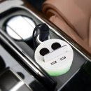 $5.99(原价$37.99)逆天价:GOGO ROADLESS 3.1A 双USB多功能车载充电器 \点烟器扩展