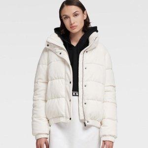 额外7折 面包服补货$62DKNY 秋冬外套上新绗缝飞行员夹克、迷彩毛绒外套$48