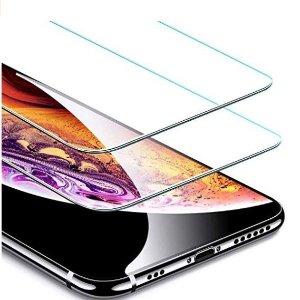 闪购$8.87(原价$13.99)ESR 钢化玻璃iPhone Xs/X 屏幕保护膜2个装