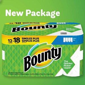 $15.17(原价$21.97)Bounty 厨房纸12大卷 相当于普通18卷