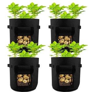 HAHOME 开口植物种植袋 7加仑 4个装