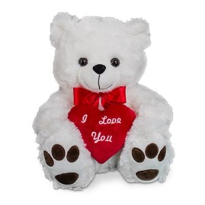I Love You White Teddy Bear 15
