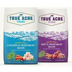 买1送1 + 订阅9.5折True Acre Foods 精选狗粮、狗零食大促
