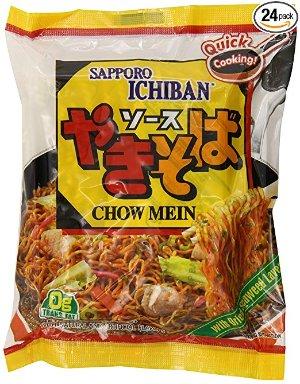 $22.39 一包只需$0.93日本札幌一番炒面 3.6oz. 24包热卖