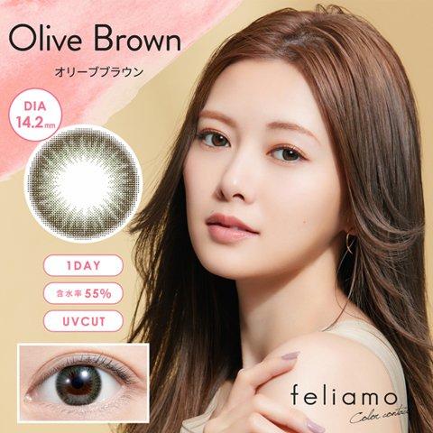 【2%返点】feliamo 日抛美瞳 10枚 Olive Brown