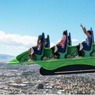 低至5.5折 仅$25 满$100再减$15拉斯维加斯 云霄塔观景台门票+350米塔顶游乐设施无限套票