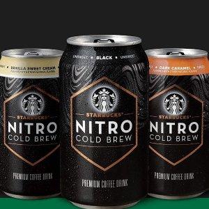 $17.87 每罐$2.23Starbucks Nitro 冷萃咖啡 多口味可选 9.6oz 8罐