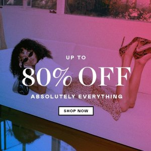 Up to 80% Off + Extra 20% OffNasty Gal Summer Sale