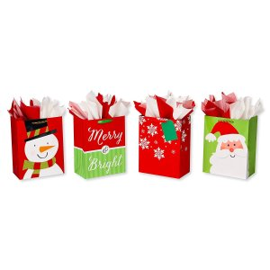 $3.53American Greetings Large Christmas Gift Bags with Tissue Paper Bundle