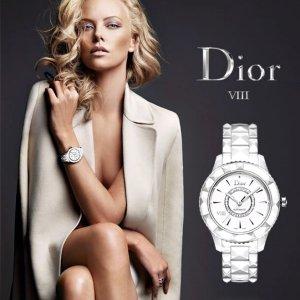 $1995 (原价8000)DIOR VIII 镶钻白陶瓷奢华女表特卖 精致名媛必备