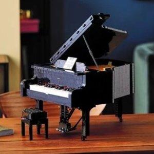8月1日开售 €349.99预告:LEGO官网 IDEAS系列Grand Piano三角钢琴即将上市 可弹奏