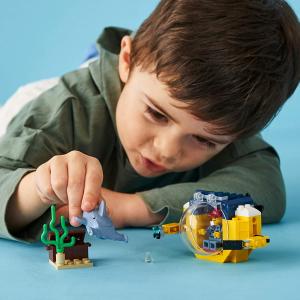 $9.86(原价$13.86) 41片LEGO 城市系列60263迷你海洋潜艇 随时给宝贝来个小惊喜