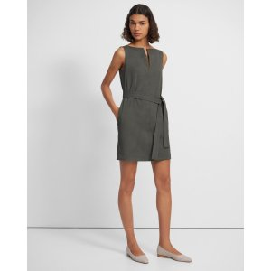 TheoryBelted Shift Dress in Good Linen