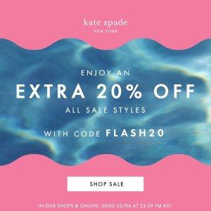 低至49折+额外8折 £30收桃心卡包闪购:Kate Spade 官网夏日大促升级 美包热卖 新款桃心也有