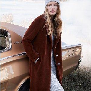 低至5折 大毛领羽绒服$447Soïa & Kyo 换季特卖 格纹羊毛廓形大衣$387 收霉霉同款