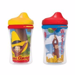 NUKGerber® Graduates® Curious George Insulated Hard Spout 9-Ounce Cup, 2 Pack