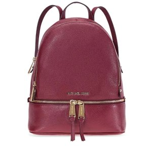 5788b965c892 Michael KorsRhea Medium Leather Backpack - Oxblood Rhea Medium Leather  Backpack - Oxblood