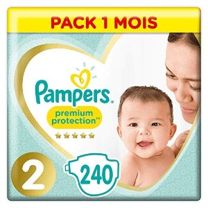 Pampers尿不湿 2 (4-8 kg)- Pack 1 mois (x240 couches)