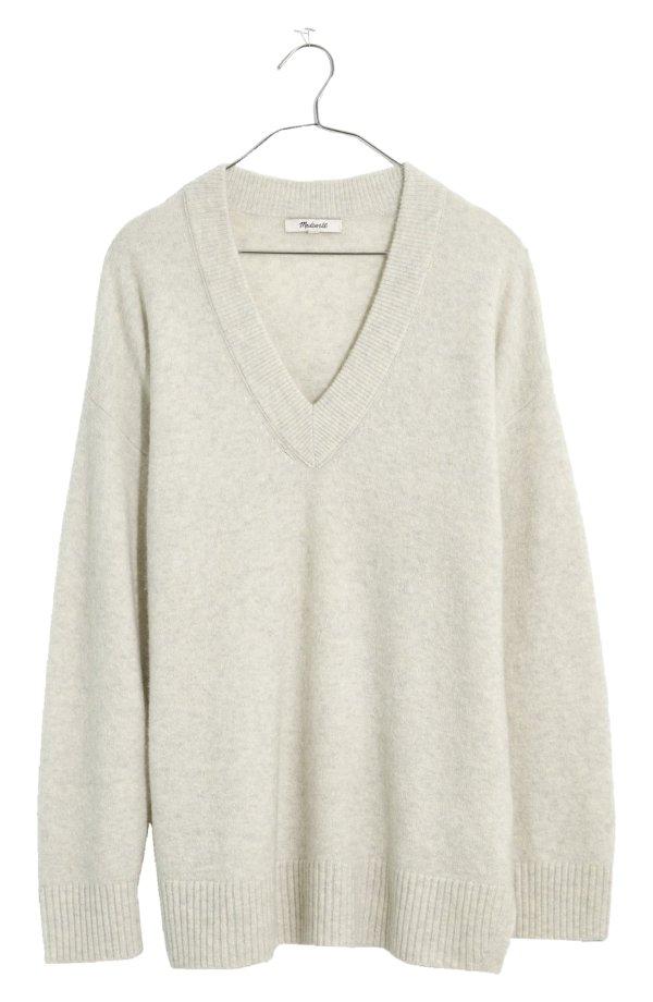 羊毛混纺V领毛衣