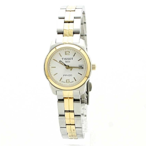 Extra $50 OffTISSOT PR100 White Dial Two-tone Ladies Watch T0492102201700