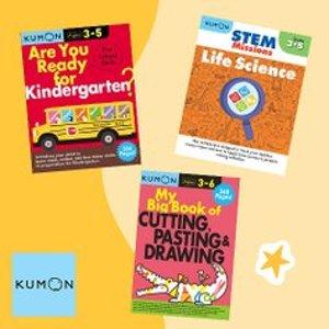 低至$4.99Kumon 儿童练习册等学习材料特卖 宅家、学习两不误