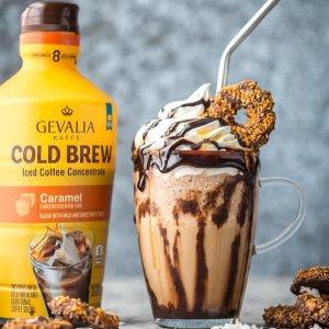 现价$5.62 味道不输星巴克Gevalia Cold Brew 特调浓缩咖啡,32oz 大瓶装 多口味