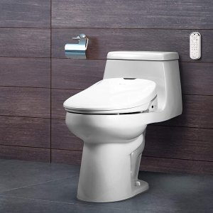 $499Brondell Swash 1400 Luxury Bidet Toilet Seat in Elongated White with Dual Stainless-Steel Nozzles and Nanotechnology Nozzle Sterilization| Endless Warm Water | Warm Air Dryer | Nightlight