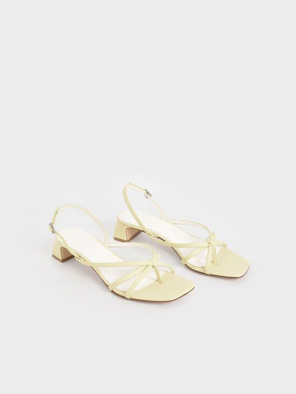 鹅黄复古凉鞋