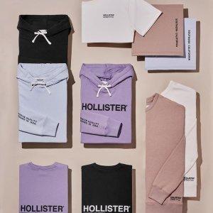 低至3折+第2件半价折扣升级:Hollister 折扣区海量服饰上新 小雏菊针织开衫$29,T恤$6