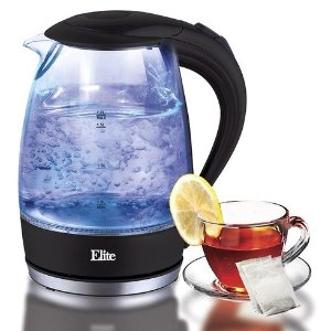 $24.99Elite Platinum 玻璃不锈钢电热水壶