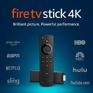 $34.99 限Prime 会员Amazon Fire TV Stick 4K 智能语音电视串流棒