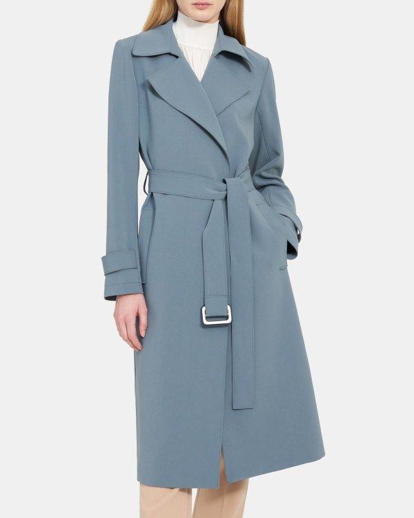 雾霾蓝大衣