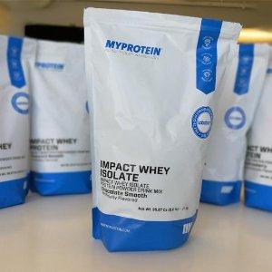 两袋$66(原价$100),包邮MyProtien官网 两袋5.5磅乳清分离蛋白粉促销,多口味选