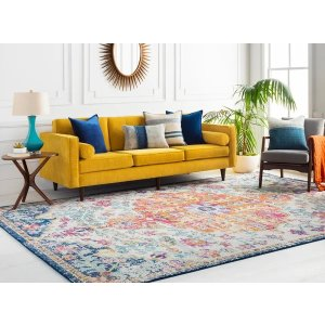 Francesupdated traditional Medallion rectangle Area Rug