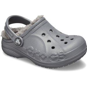 Crocs儿童 Baya 绒里款洞洞鞋