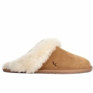 Koolaburra By Ugg Milo Genuine Dyed Sheepskin Fur Lined & Trim Slipper