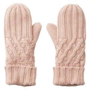 LOVE AND LORE REMY 粉色针织手套