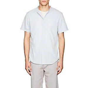 Barneys New YorkBand-Collar Cotton Shirt Band-Collar Cotton Shirt