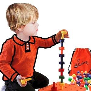 低至8折Skoolzy 学龄前儿童玩具,采用蒙特梭利式教玩法