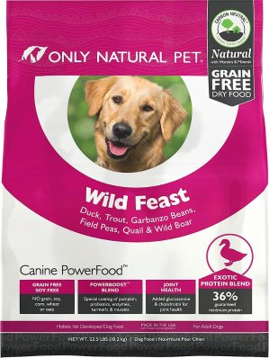 $36Only Natural Pet Canine PowerFood Wild Feast Grain-Free Dry Dog Food